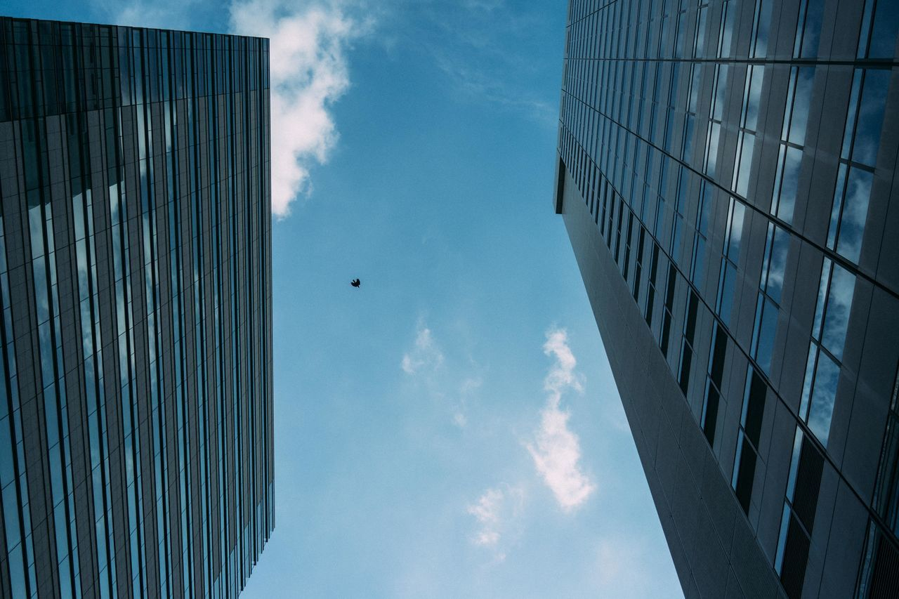 Architecture Built Structure Building Exterior Sky Cloud - Sky Skyscraper Low Angle View Outdoors No People City Day Modern Japan Tokyo The Architect - 2017 EyeEm Awards EyeEmNewHere Cityscape Urban Skyline Low Angle View City Office Architecture Bird Shinjuku Tokyo, Japan