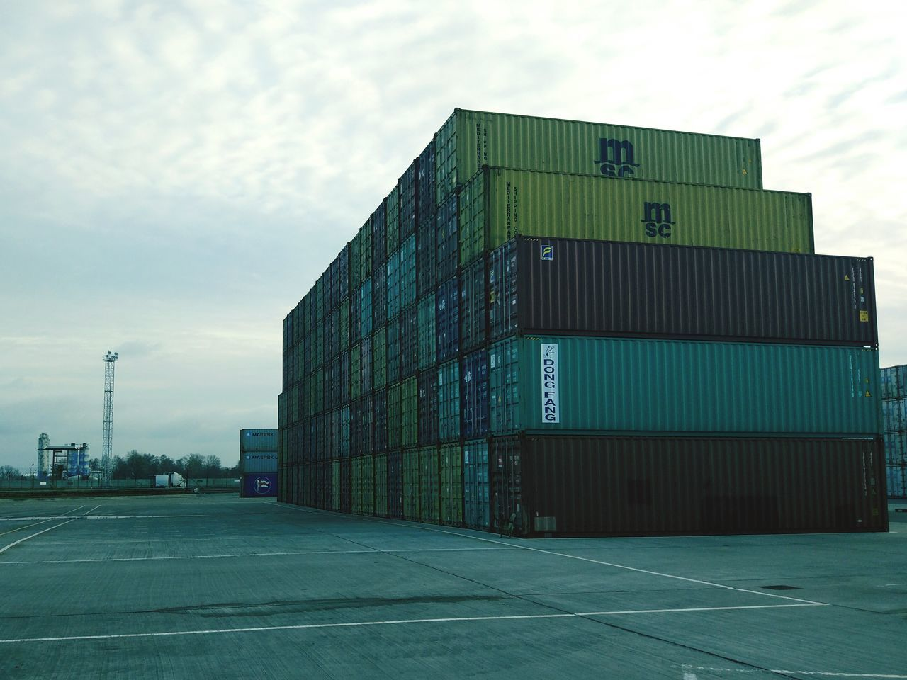 Port Cargo Container Industry No People Day Sky Outdoors First Eyeem Photo
