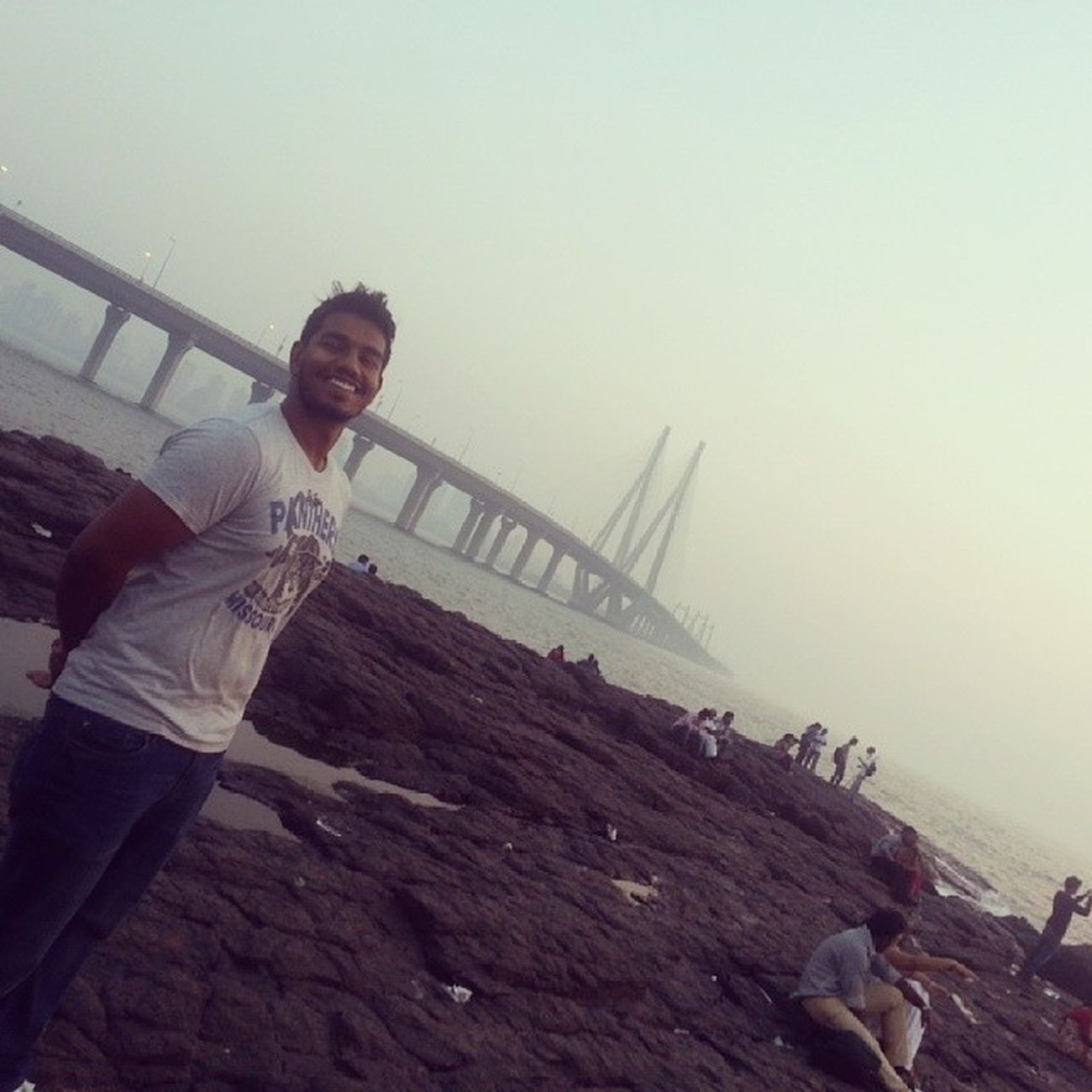 One with the background SammyVeera Bandra reclamation