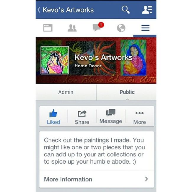 Check this fb account i made to post some of my paintind aside from my weebly account. https://m.facebook.com/kevoartworks Itsmorefuninthephilippines Wowphilippines Pinoy Pinoyartist pinoyart filipino filipinoart filipinoartist painting homedecor decor