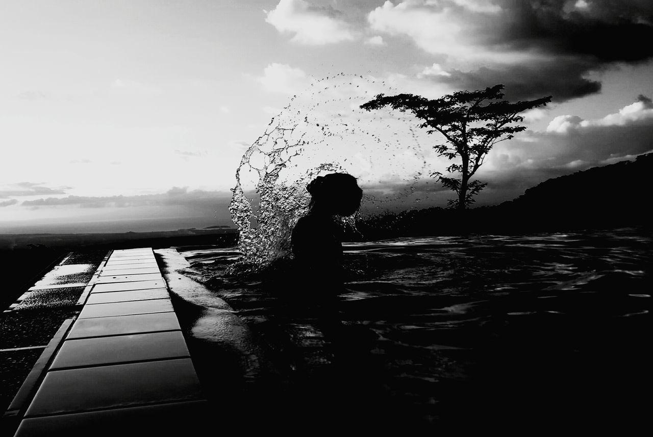 Me boy Swimming Pool Summer Time  Infinity Pool Philippine Summer Stonehouse Resort Naga City, Philippines Its  Itsmorefuninthephilippines EyeEm Best Shots Black And White Photography Whip My Hair Water Splash