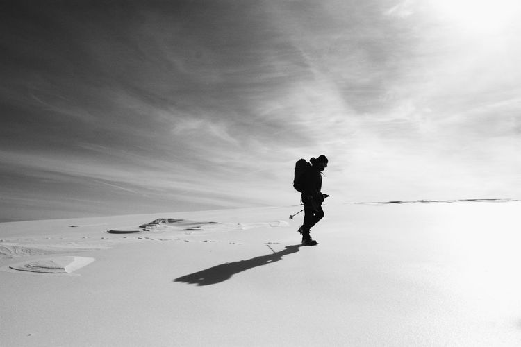 Art Is Everywhere Blackandwhite Break The Mold Cut And Paste EyeEm Nature Lover Greece Landscape Men Mountain Nature Olympus Mountain Outdoors Scenics Silhouette Sky Snow The Calm Photography Movement Winter