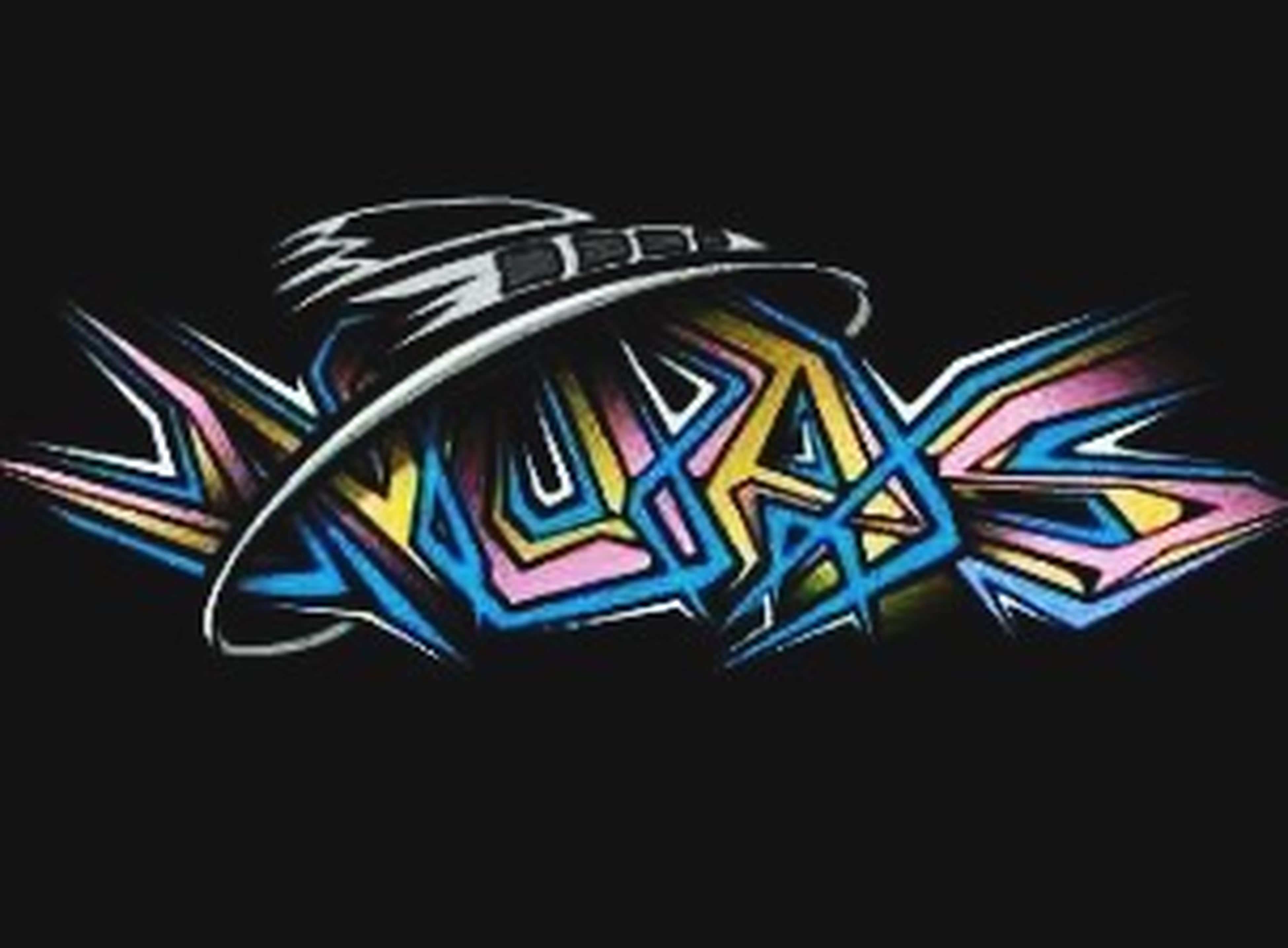 multi colored, creativity, art, art and craft, night, illuminated, pattern, colorful, animal representation, no people, blue, design, graffiti, striped, copy space, arts culture and entertainment, low angle view, close-up, text, black background