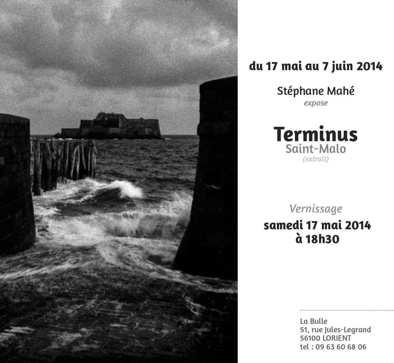 """Exposition du 17 mai au 7 juin, au café la Bulle, à Lorient. Quleques photos extraites du livre """". Pour en savoir plus sur le livre : http://www.editionsdejuillet.com/collections/frontpage/products/terminus-saint-malo"""