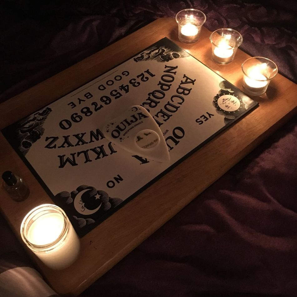 Ouija Ouija Board  Magick Occult Witchy Séance Dark Darkaesthetic Candles Spooky Witchcraft  Halloween Spirit Communication Goth Moody Candlelight Market