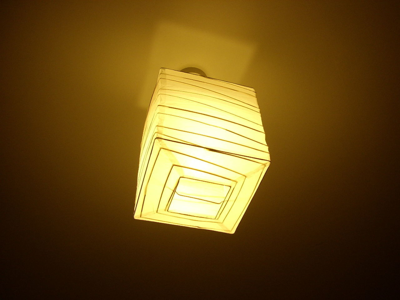 electricity, illuminated, lighting equipment, light bulb, indoors, glowing, no people, low angle view, yellow, lamp shade, close-up, home interior, night