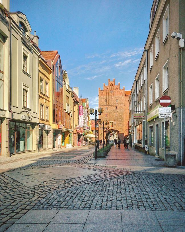 Olsztyn Polska Poland Staremiasto Warmia Street Sun City Architecture Vertical Sky Day