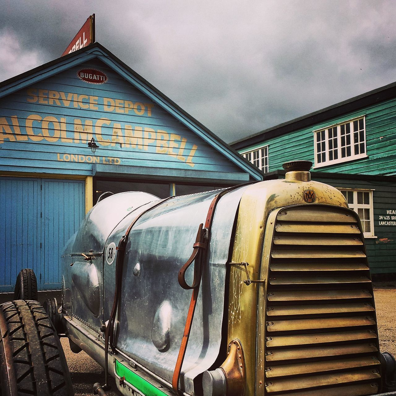 Aston Aston Martin Astonmartin Brooklands Brooklandsmuseum Classic And Vintage Racing Clouds Garages Sky Stormy Vintage Vintage Racecar Vintageracer