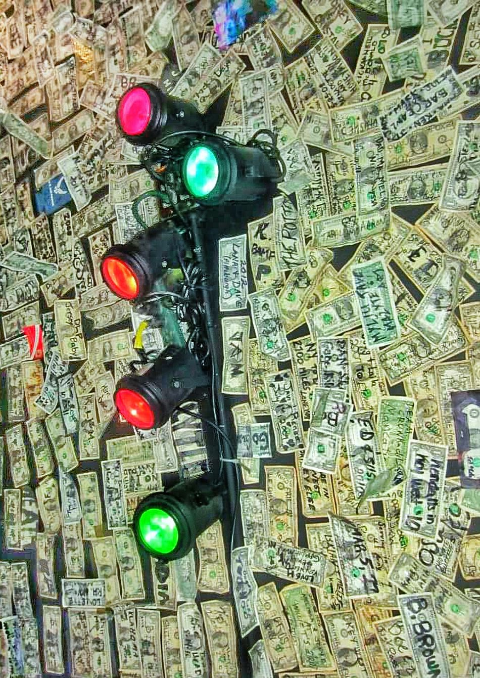 Money Cash Ceiling Ceiling Lights Bar And Restaurant Cool Scene Artistic Expression Dollar Bills Art Looking Up Dollars Wasted Money Must See Destination Indoors  Nightlife Inside Darkness Places You Must To See Abstract Still Life Indoors