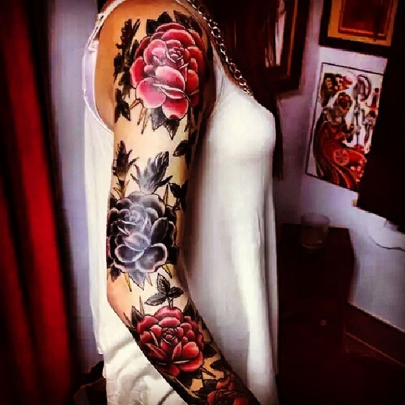 So this is the sleeve im getting this year, words cant describe how excited I am!!! TeamTatted Capitoldoll Themagneticbeauty Tattoos roses sleeve