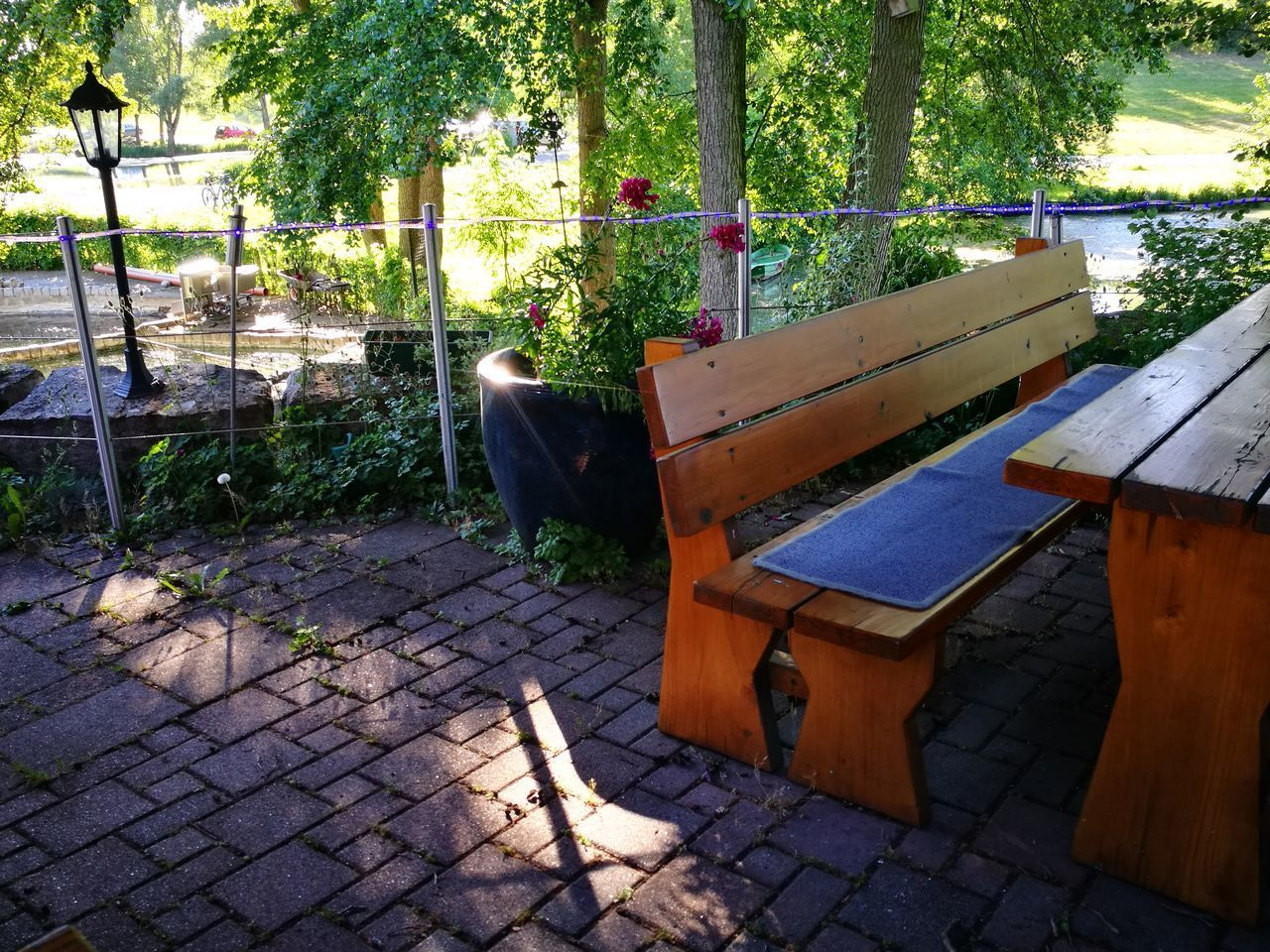 💚 Böllstrichseen 💚 Biergarten Fishfarm Fishing Pond 💚 Outdoors No People Day Chair Backgrounds No Filter, No Edit, Just Photography No Edit/no Filter EyeEm Best Shots Smartphonephotography Eye4photography  Exceptional Photographs Beauty In Nature Good Evening Guten Morgen EyEmNewHere