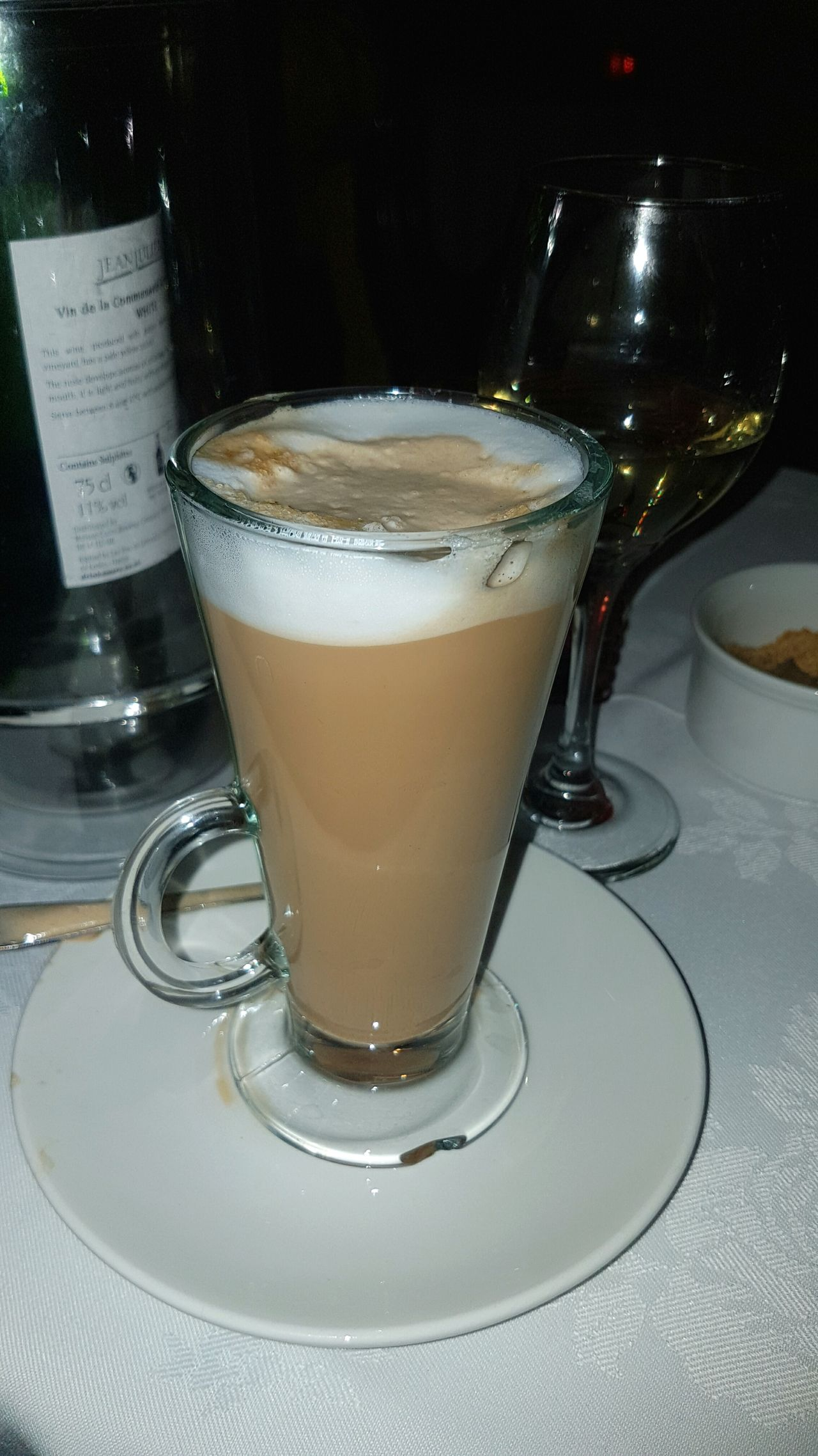 Latte Drink Drinking Glass Food And Drink Freshness No People Table Coffee Hot Drink Froth