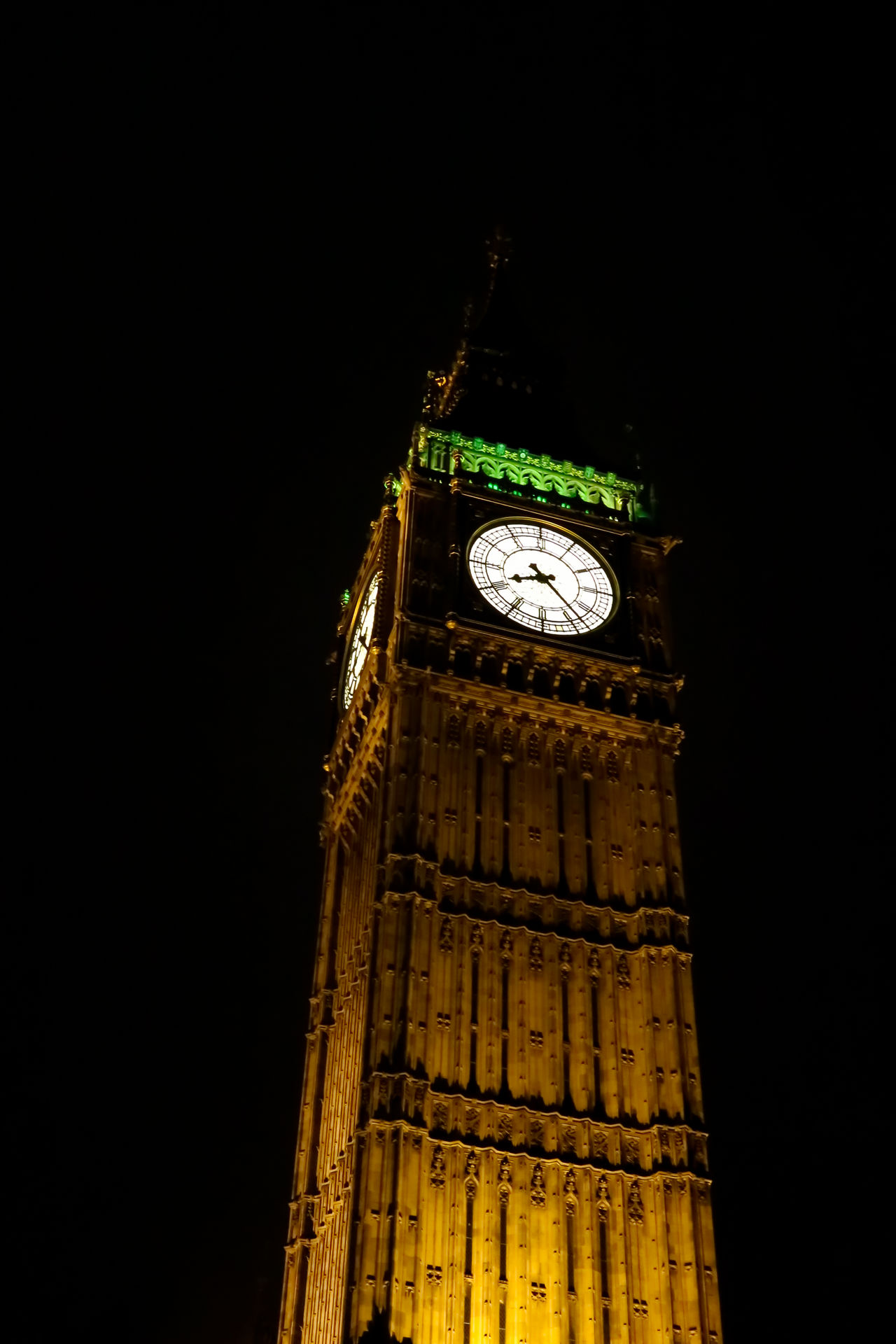 Architecture Astronomical Clock Big Ben Britain Building Exterior City Clock Clock Face Clock Tower Cultures Icon Illuminated Low Angle View Midnight Minute Hand Night No People Outdoors Time Tower Tower Buildings Travel Destinations Uk View Westminster
