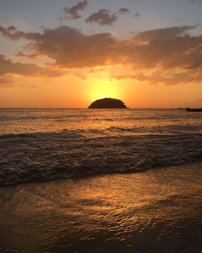 Thailand, Phuket No Filter Sunset Sea And Sky