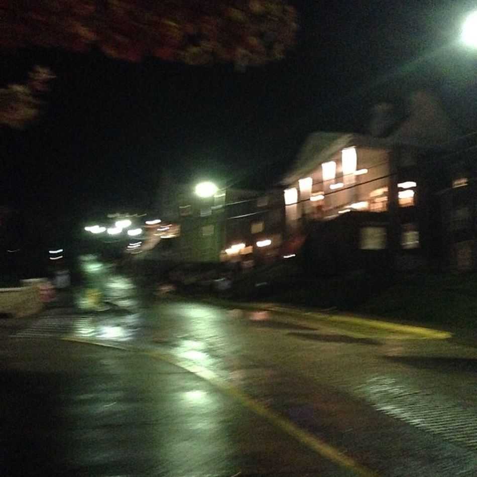 Part 1: Finally at frat row. What a hike! Walkedthewholecampus Halloweennight Raining Cops