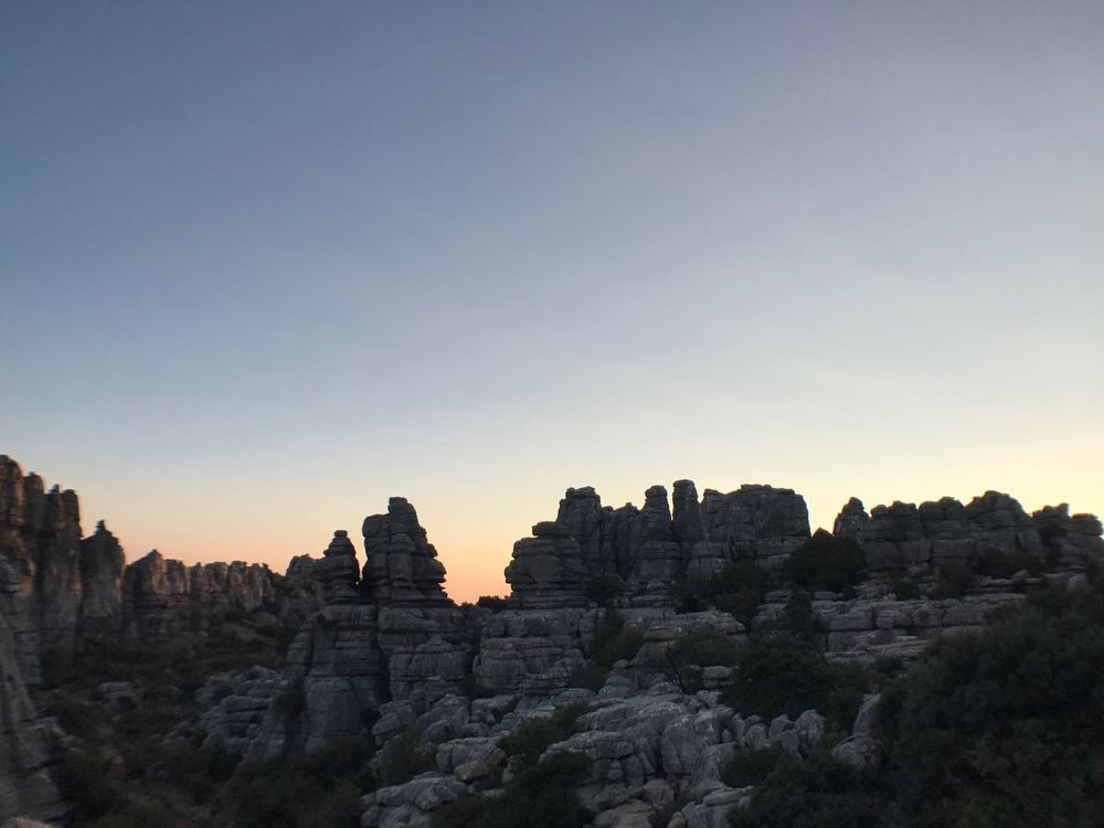 Rock Formation No People Nature Sunset Sky Rock - Object Seefaces See Outdoors Furgoneta Malaga Malaga Spain Photomoments Iphoneonly Tranquil Scene Iphone7 Stone Power In Nature