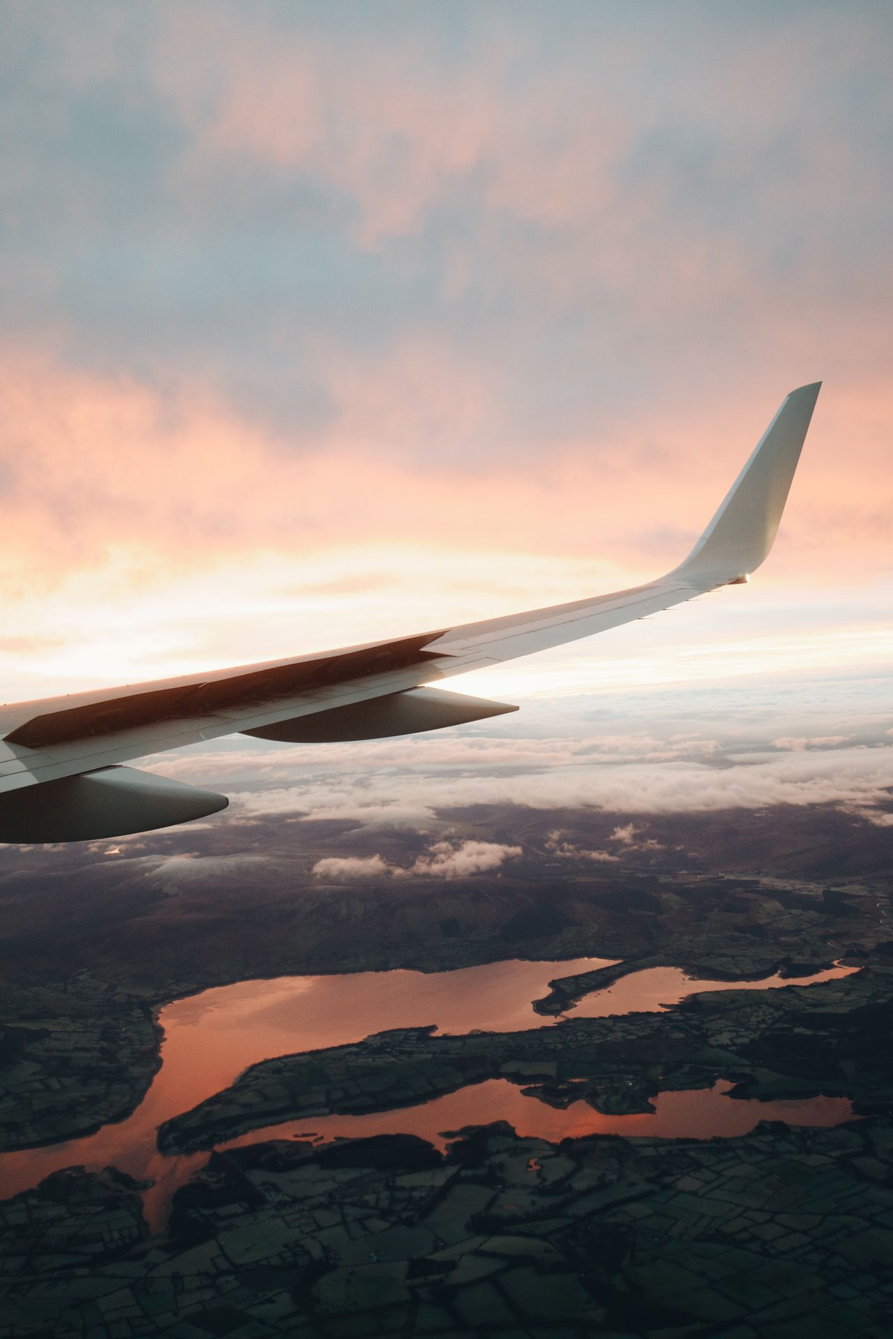 Beautiful stock photos of airplane, sunset, flying, travel