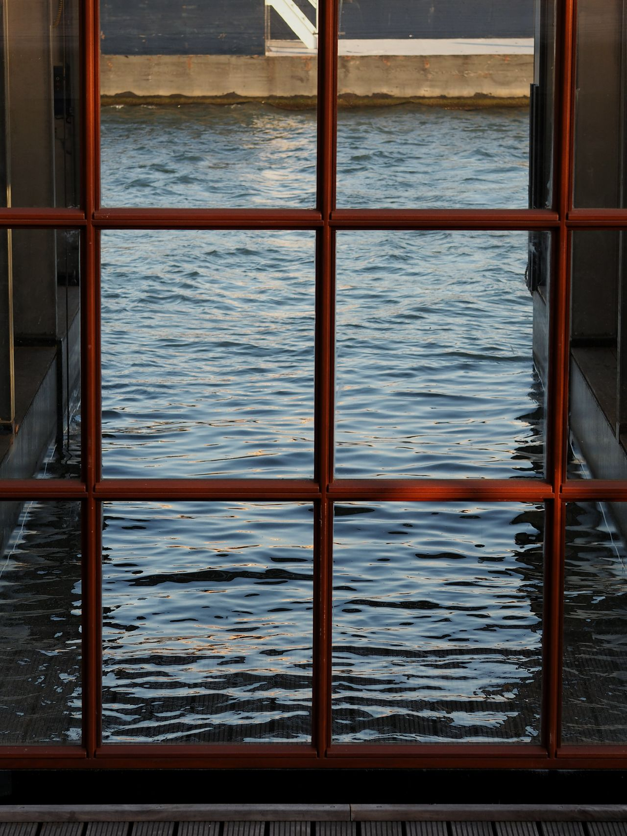 Water No People Day Outdoors Built Structure Boats Frame Windows Building Exterior Photo Taking Photos Reflections Rippled Water Ripples In The Water Empty Boathouse