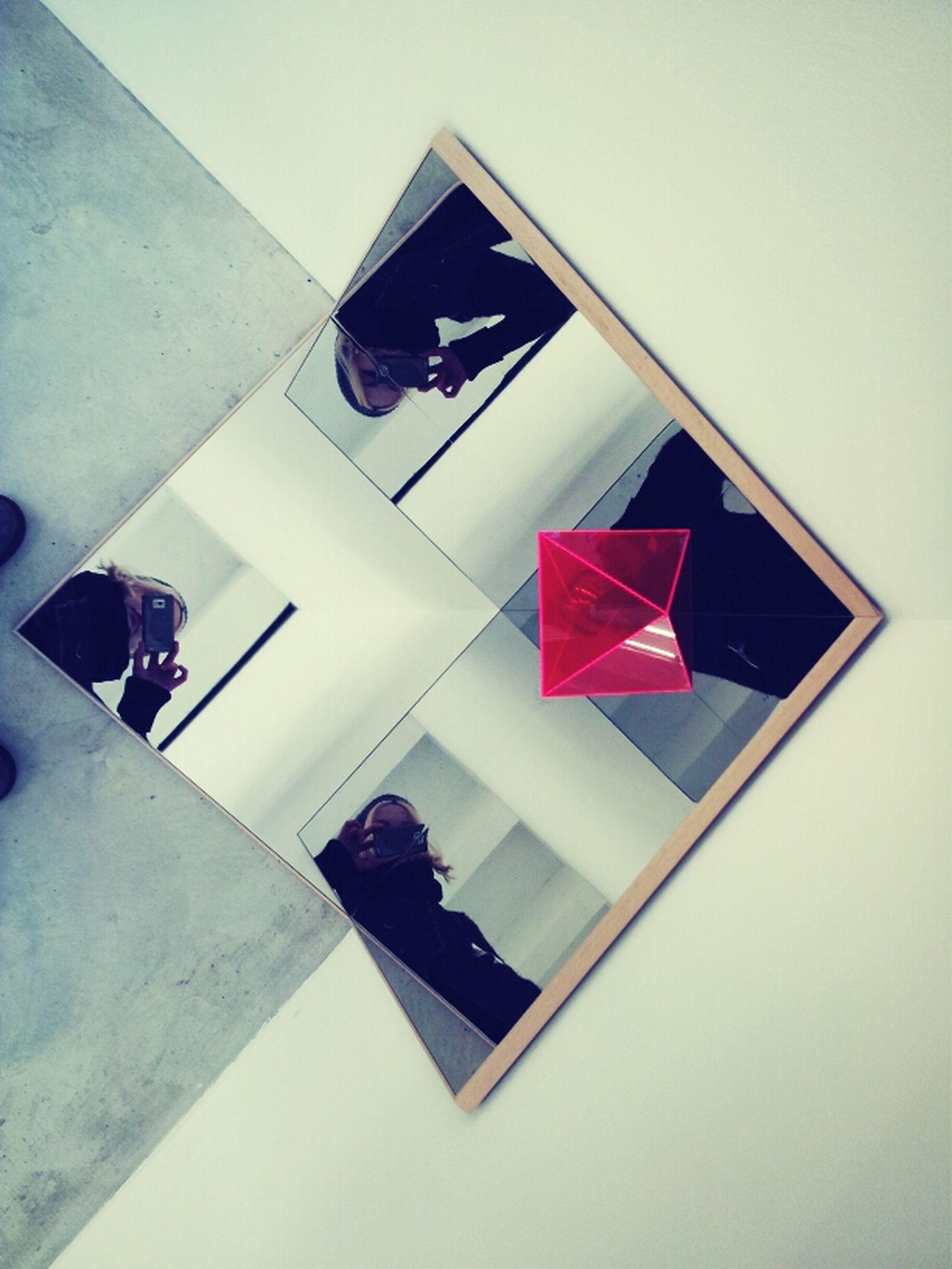 Art Mirror Pyramid Optical Illusion Hreinn Friðfinnsson Plexiglas