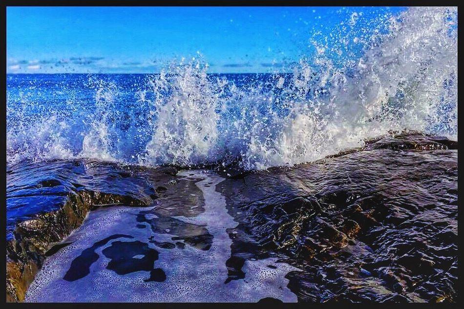 Hampton Beach Water Splash Hampton Beach New Hampshire Vibrant Tranquility Wave Sea Splashing Scenics No People