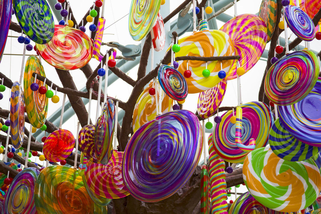 Abundance Candy Candy Tree Candys Choice Close-up Colorful Day For Sale Hanging Large Group Of Objects Low Angle View Multi Colored Multicolored No People Outdoors Retail  Sweet Variation