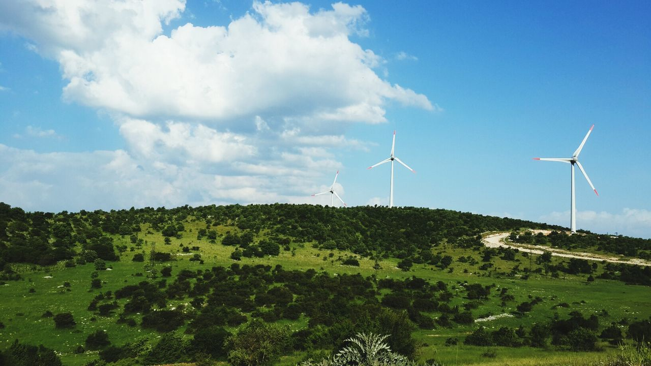 Beautiful stock photos of science, Alternative Energy, Blue, Cloud, Countryside