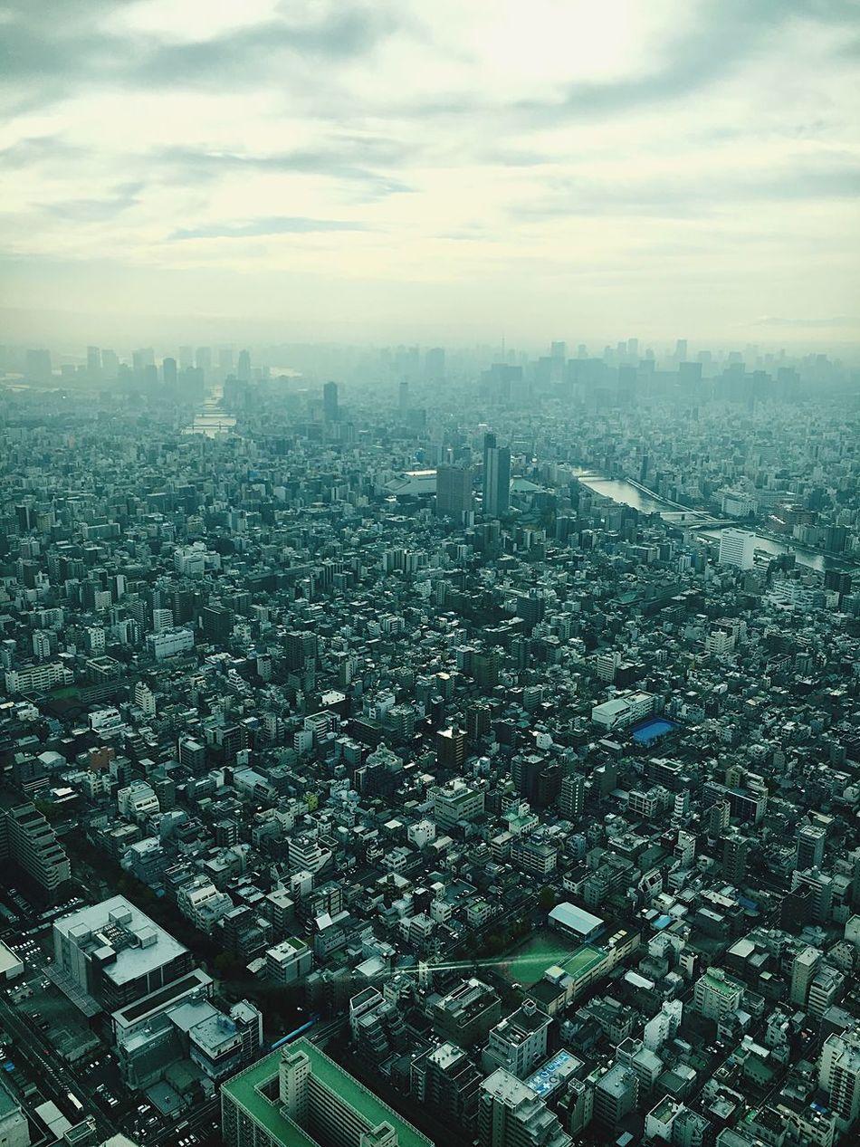 Tokyoskytree Tokyo Japan City Flying High