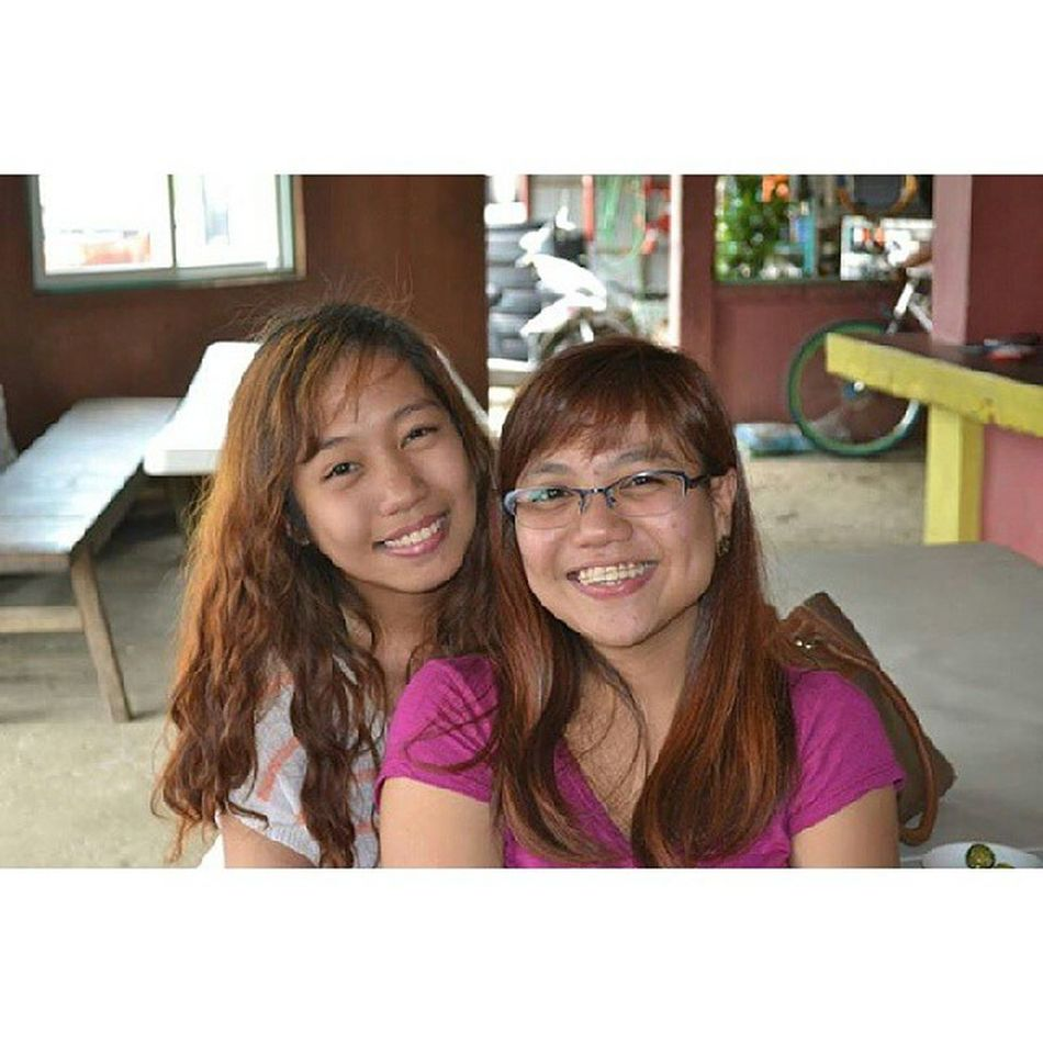 I used to remember way back in highschool, both of us have sort of issues with our hair, and now, you overcome it by permanently curling your hair!! Hahaha. Medyomadaya TBT  @edenfriia