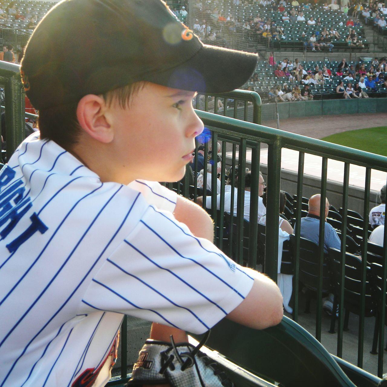One Person Day Spectator Baseball Baseball Fan Boy Boy In Hat Baseball Is Life Baseball - Sport