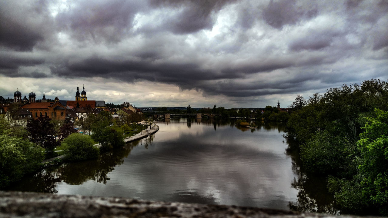A Cloudy Day in my City Historic City Towers View Tower From Kitzingen Old Building  Old Building  Kitzingen Sky Outdoors EyeEm Awards Tranquility River Collection Riverside Photography Cloudporn Kitzingen Cloudy Sky