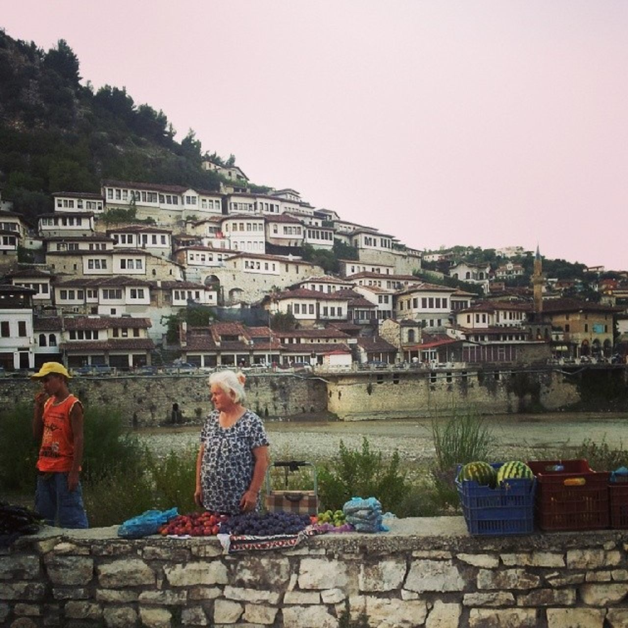 Berat, Albania Albania Visitalbania Berat Travel Destinations Travel Landscape Land Vintage City Street City Life Streetphotography Street Photography City Urban Landscape City View  Cityscapes Urban Town People