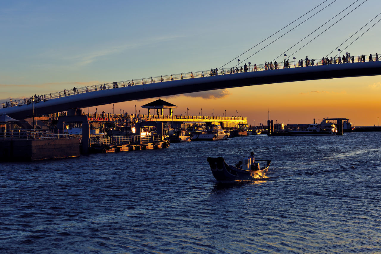 Architecture Atmosphere Blank Bridge Bridge - Man Made Structure Building Building Exterior Built Structure City Cloud Day Fishing Boat Landscape Nautical Vessel No People Outdoors Sea Sky Sunset Taiwan Transportation Water