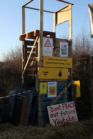 Anti Fracking Day Frack Free Frack Off Kirby Misperton Protection Camp KMPC No People Ryedale Yorkshire