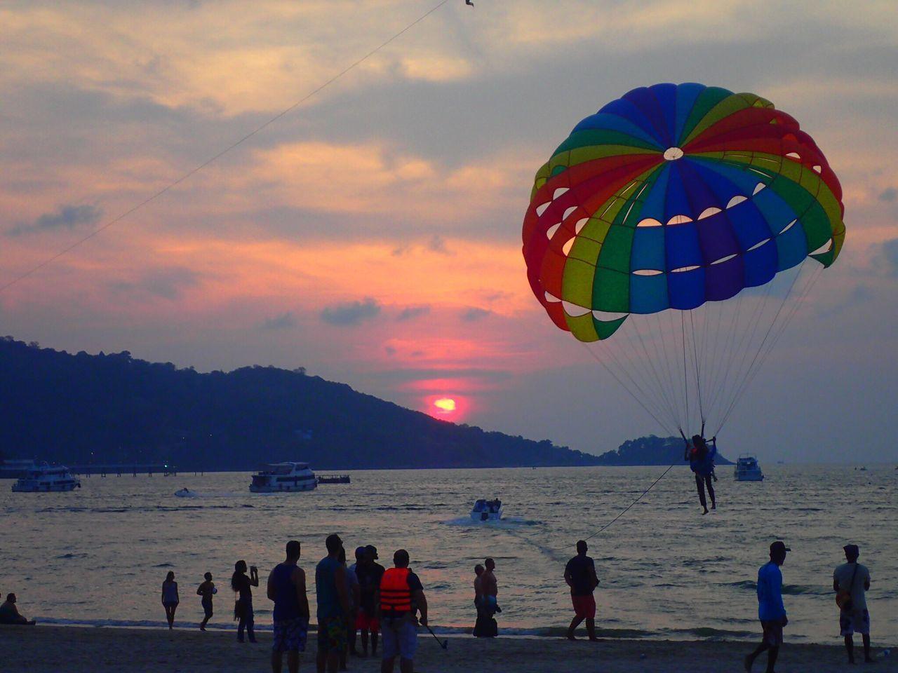 Phuket Patong Beach Parachute Sunset