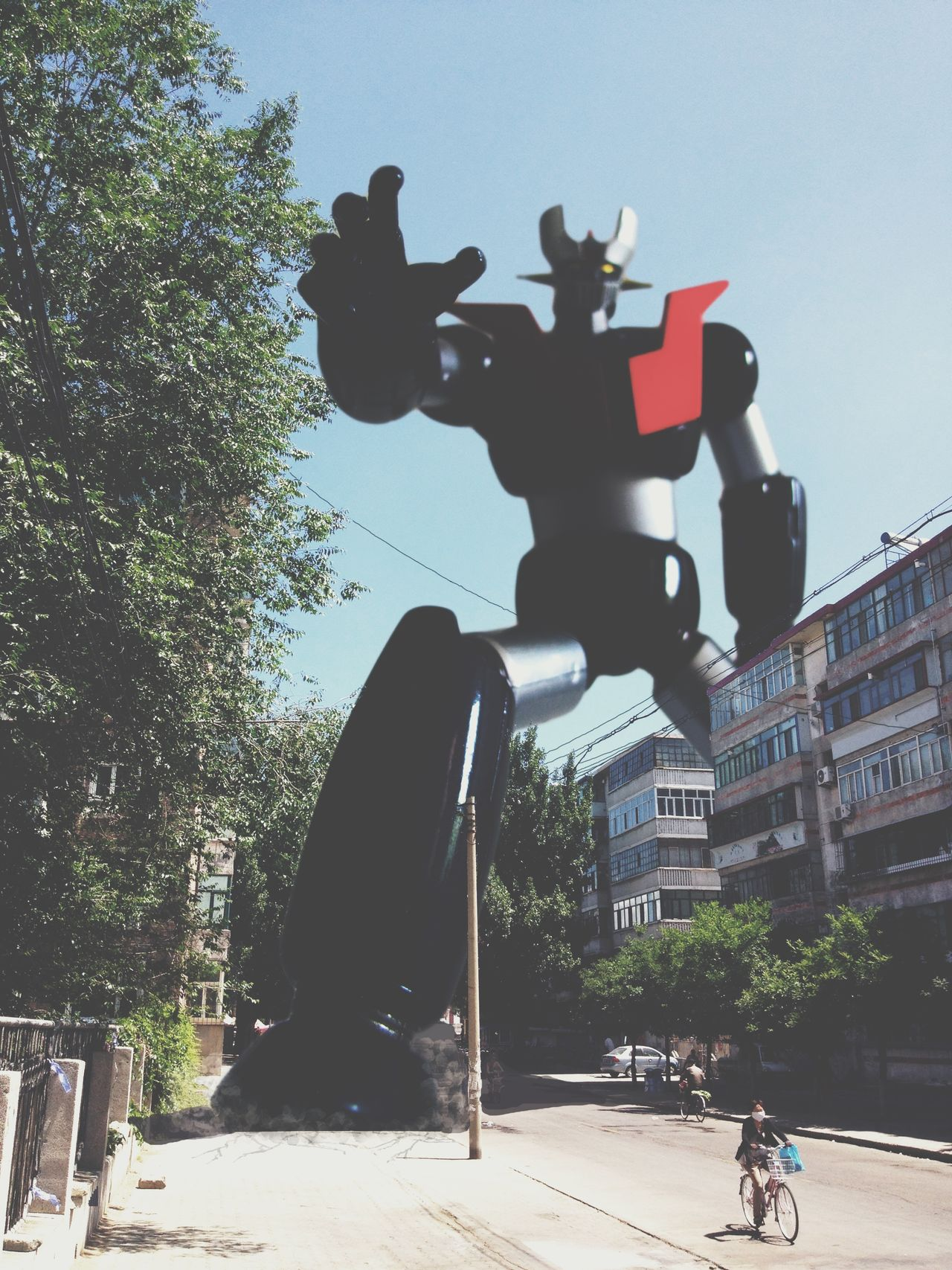 Building Exterior City Largerthanlife Mazinger Z Road Street Toyphotography Toys