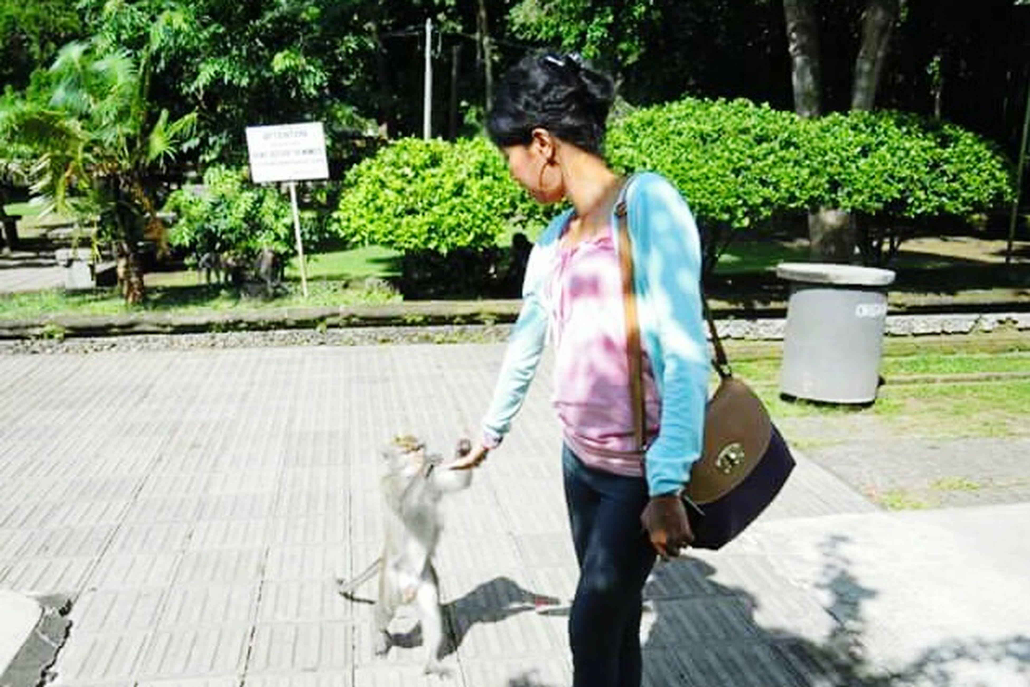 Me MonkeyForest Feeding The Animals Peanut ❤ Cute :) Bali Indonesia
