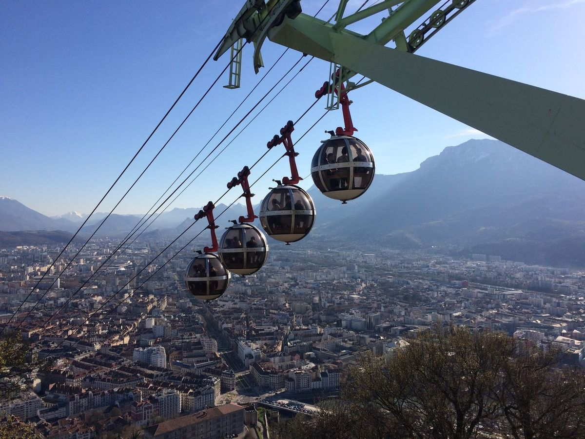 Grenoble Grenoble France France Telesferic Alpes AlpesFrancaises Hanging Architecture Mountain Day Built Structure Cityscape Outdoors No People Sky Nature Building Exterior Clear Sky Overhead Cable Car City Ski Lift