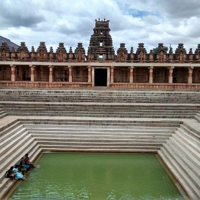 9th Century Indian swimming pool. Temple Nandi Bangalore Bluefoot History India Shiva Parvathi