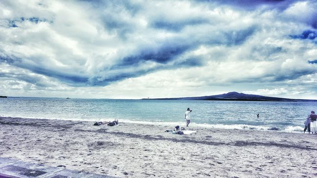 Twin Peaks Beach New Zealand Rangitoto Island Water East Coast Mission Bay Waves Ocean Sand