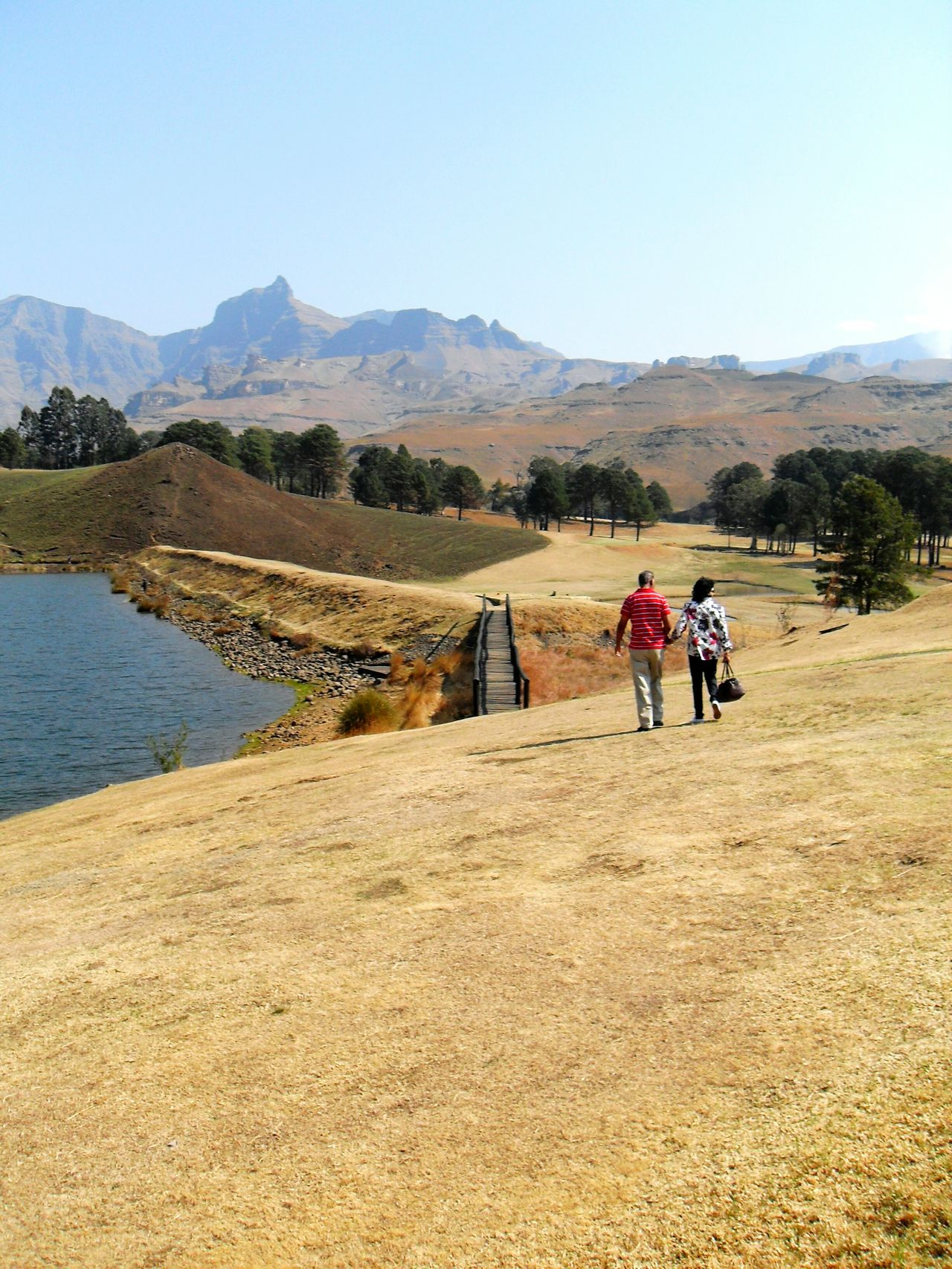 My Parents exploring the Drankensburg Mountains on our family vacation Family Mountain Vacation South Africa Drakensburg Drakensburg Mountains, South Africa, Mountain The Following