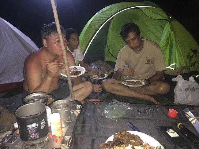 Camping Dinner Time Salmonsteak and Lambchop Portraitist - 2016 Eyeem Awards