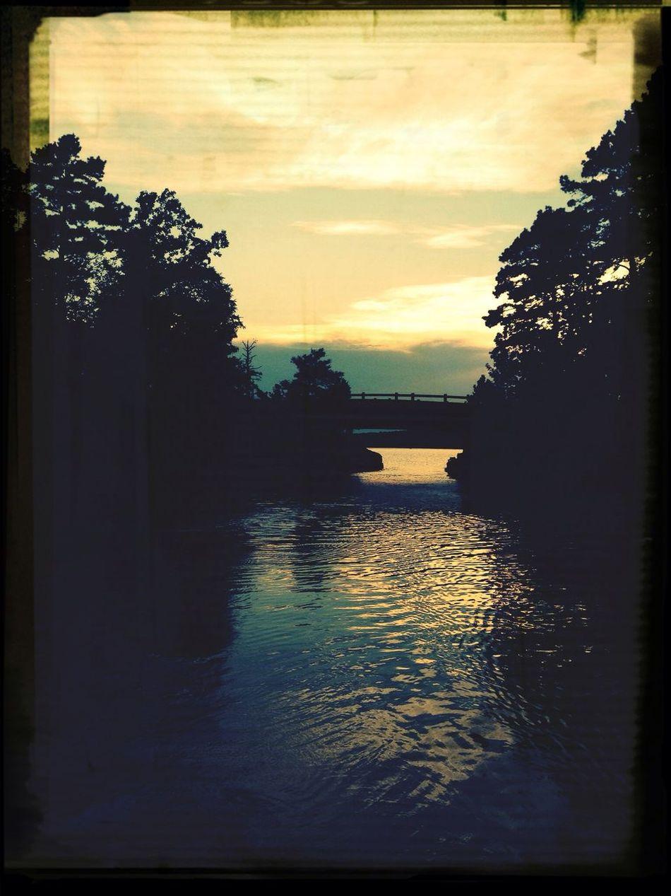 Boating Lake Lovely Weather Sunset