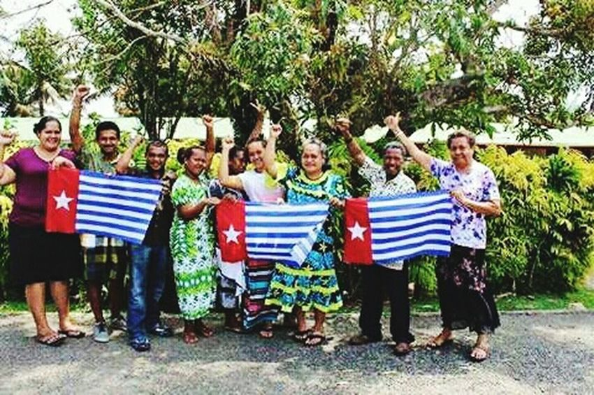 Timor Leste people giving suport for free West Papua Patriotism West Papua Want To Free Of Indonesia Colonial. Papua Free Of Indonesia Colonial West Papua Politic Of Freedom Flag West Papua Flag Patriotism