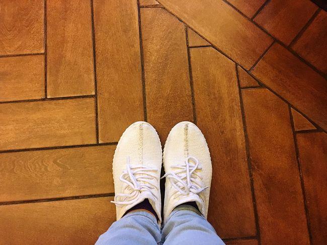 Footwear Cafe Floor IPhoneography Standing Indoors  Directly Above Alexandria Egypt Wood Wooden Texture Wooden Floor Wooden Background White Sneakers