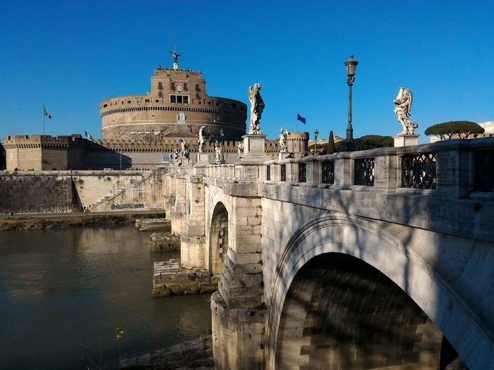 Saint Angel Castle Rome Italy🇮🇹 Bridge Tiber River Your Ticket To Europe