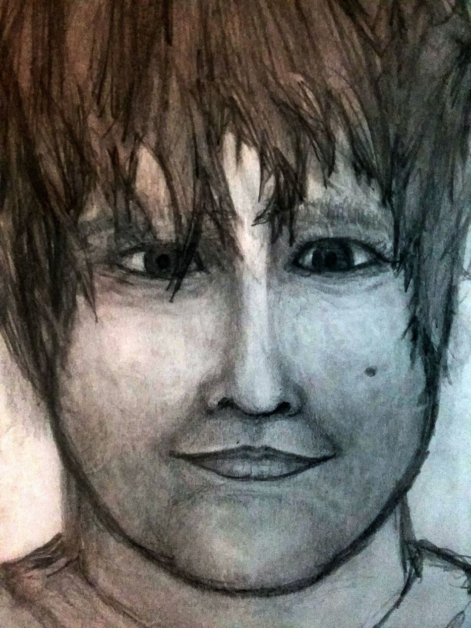 My son Aiden Close-up Human Face Portrait Beauty Eyes Wide Open Pencil And Paper Sketch Art Silver Colored Love My Own Style 92781