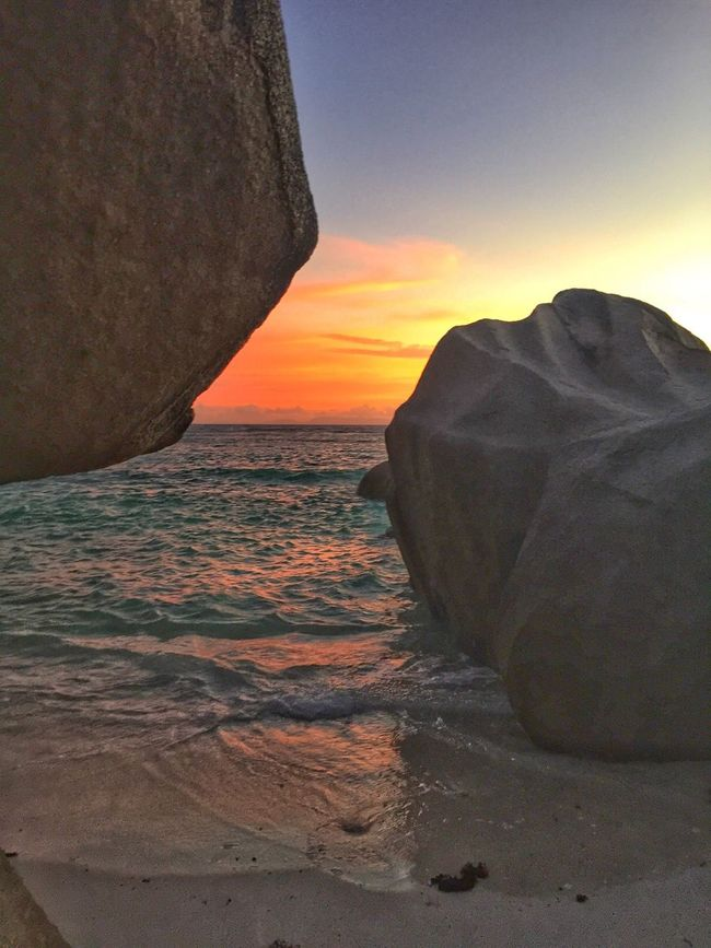 Seychelles Rocks And Water sunset La digue island Stall island landscape Naturelovers Vacation Wonderful Nature Colours