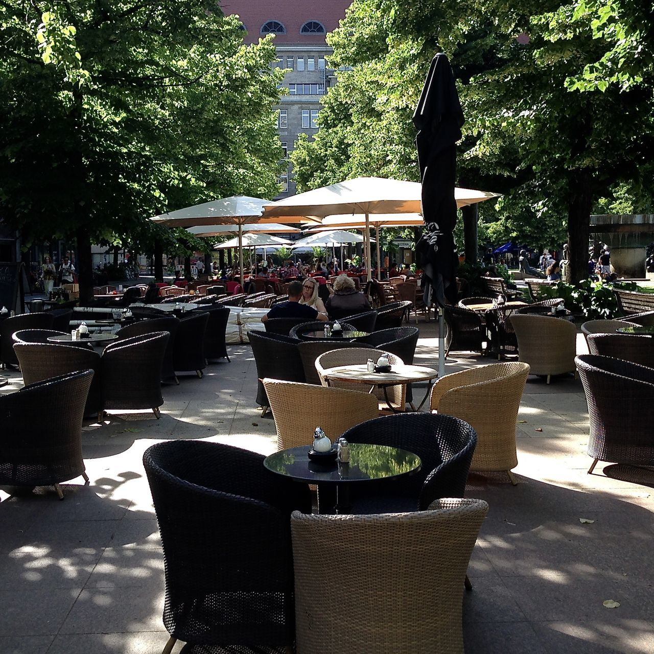 summer in berlin, street photography Architecture Berlin Berliner Ansichten Cafe Chair City Food Food And Drink Kadewe Outdoor Cafe Outdoors Parasol Potted Plant Relaxing Restaurant Sidewalk Cafe Streetphotography Summer Summer In The City Sunlight Sunshine Table Take Your Place Tree