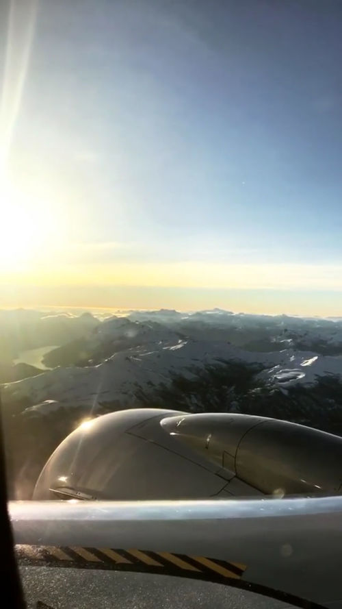 Airplane Air Vehicle Transportation Sky Sunset Nature Aerospace Industry Technology Snow Snowcapped Mountain Snow ❄ Outdoors Beauty In Nature Businessworld Coldday