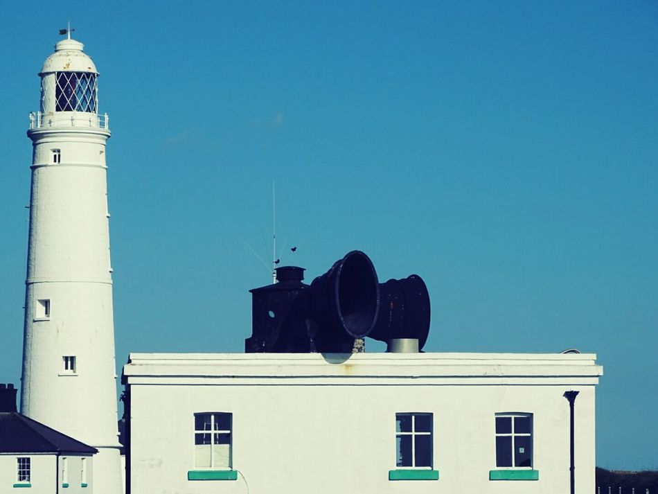 Lighthouse and fog horn. Building Exterior Architecture Built Structure Outdoors Day Sky No People SONY DSC-HX400V Lighthouse Fog Horn Nash Point History Maritime Old Buildings Scenics Backgrounds